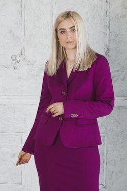 Костюм женский фиолетовый (Жакет+Юбка)