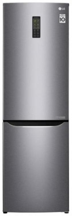 Холодильник с нижней морозильной камерой LG GA-B379SLUL, 261л, 173.7см, A+