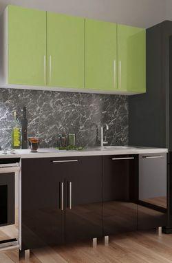 Кухонный гарнитур Bafimob Mini (High Gloss) 1.6m Green/Black
