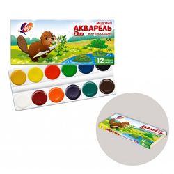 Акварель Zoo 12цв. без кисточки в картонной упаковке