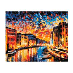 Canalul de Veneția pictura pe numere 40x50 HS0157