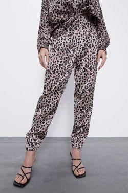 Pantaloni ZARA Imprimeu leopard 0881/156/051 zara.