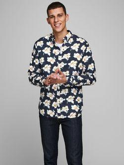 Рубашка JACK&JONES Темно синий с принтом 12166377