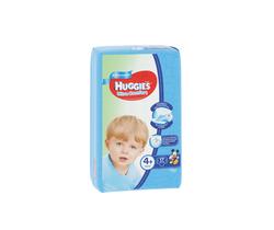 Scutece Huggies Ultra Comfort Small pentru băieţel 4+ (10-16 kg), 17 buc.