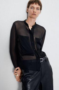 Блуза ZARA Чёрный 7563/258/800