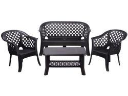 Комплект мебели: стол, 2стула, скамья пластиковые