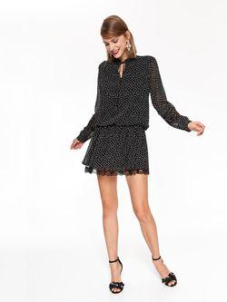 Платье TOP SECRET Чёрный в горошек ssu2519
