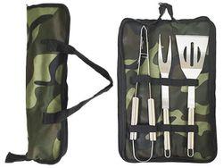Инструменты для барбекю BBQ (лопатка, вилка, щипцы) +чехол