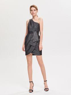 Платье RESERVED Черный с принтом uz340-slv