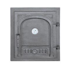 Дверца чугунная глухая правая с термометром DW2Т