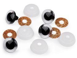Ochi pentru jucării cu sclipici, Ø20 mm / auriu