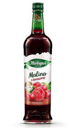 Сироп Herbapol Raspberry with Cranberry, 680 мл