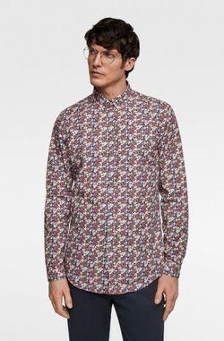 Рубашка ZARA Принт цветочек zara 7545/335/400