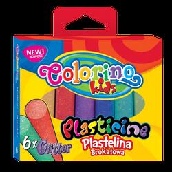 Пластилин c блеском 6 цв. 100 гp Colorino