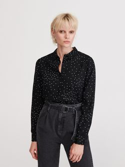 Блуза RESERVED Чёрный в горошек wx882-99x
