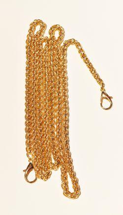 Lanț cu carabine pentru poșete, 120 cm / auriu