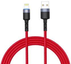 купить Кабель для моб. устройства Tellur TLL155354 Cable USB - Lightning, cu LED, 3A, 1.2m, Red в Кишинёве