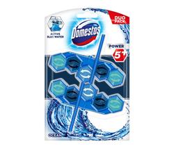 Odorezant toaletă Domestos Power 5+ Ocean Blue, 2 buc. x 53 gr.