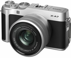 cumpără Aparat foto mirrorless FujiFilm X-A7 Silver/XC15-45mm kit în Chișinău