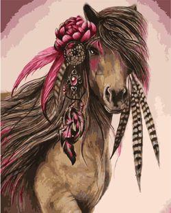 Картина по номерам 40x50 Сказочный конь VA1130