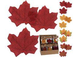 Набор осенних листьев 15шт 8X7cm, 3 цвета