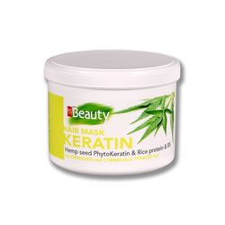 Маска для поврежденных волос, SOLVEX MMBeauty, 500 мл., KERATIN - ревитализация, с фитокератином из семян конопли