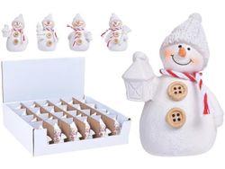 Сувенир Снеговик с пуговицами 7X4X4cm, керамика, 4 дизайна