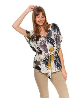 Блуза TOP SECRET Бежевый с принтом sks1073