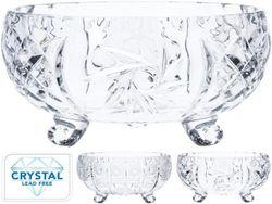 Bomboniera din cristal pe 3 picioruse D24cm, H12cm