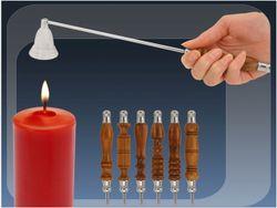 Stingator pentru luminari 35.5сm cu maner din lemn, metal