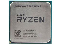 APU AMD Ryzen 5 3400GE (3,3-4,0 ГГц, 4C / 8T, L2 2 МБ, L3 4 МБ, 12-нм, Vega 11 Graphic, 35 Вт), Socket AM4, лоток