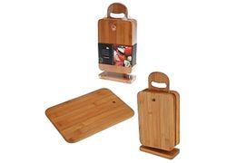 Доски бамбуковые EH 6 шт, 22X15cm, на подставке