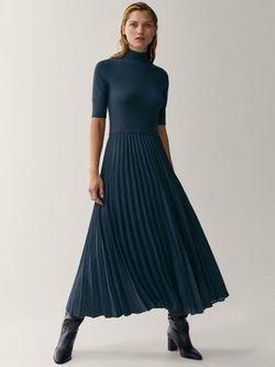 Платье Massimo Dutti Темно зеленый 6643/612/567