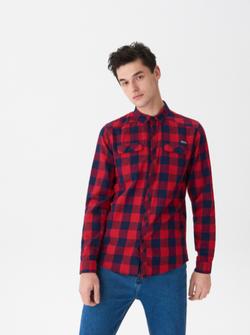 Рубашка HOUSE Красный в клетку