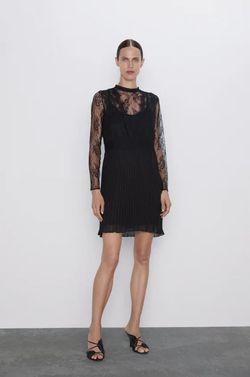 Платье ZARA Чёрный 5598/229/800