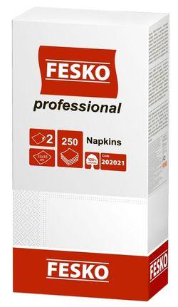 Салфетки сервировочные Fesko Professional, 2 слоя,  250 листов,  (белая).