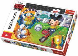"Puzzle ""100"" - ""Mickey Mouse pe teren / Caracterele standard Disney"", cod 42174"