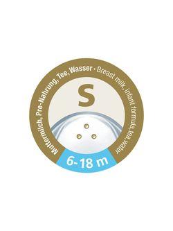 Соска силиконовая NUK NS для жидкостей S (6-18 мес) 2 шт