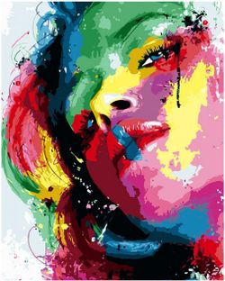 """Pictura pe numere  """"Fată strălucitoare"""" 40x50 cm"""