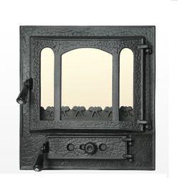 Дверца чугунная со стеклом Weekend - Panoramic mijlociu