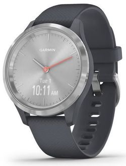 купить Фитнес-трекер Garmin vivomove 3S, S/E EU, Silver, Granite Blue, Silicone в Кишинёве