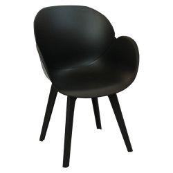 Пластиковый стул 590x580x850 мм, черный
