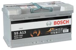 Bosch S5 AGM 12V 95Ah 850EN 353x175x190 -/+