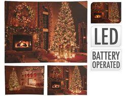Картина LED Рождественская Елка 38X28cm, холст