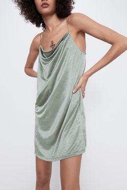 Платье ZARA Оливковый 5644/421/505