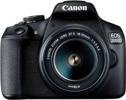 cumpără Aparat foto DSLR Canon EOS 2000D 18-55 DC III Black (2728C007) în Chișinău