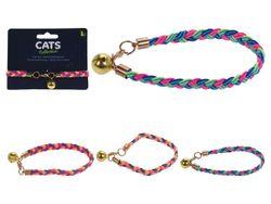 Zgarda pentru pisici Cats D30X1.3cm cu clopotel 3culori