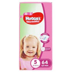 Подгузники Huggies Ultra Comfort 5 Girl (12-22 кг) 64 шт