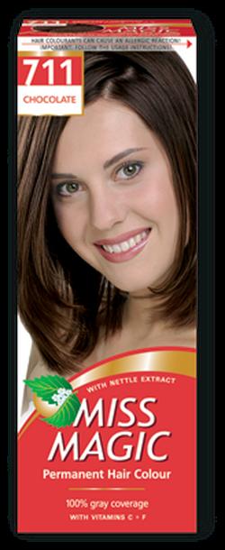 Vopsea p/u păr, SOLVEX Miss Magic, 90 ml., 711 - Ciocolată