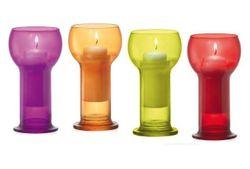Подсвечник со свечей Lucilla 6цветов